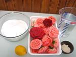 Ingrédients pour la recette : Gelée de roses