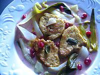foie gras sauce aux airelles et au vermouth