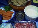 Ingrédients pour la recette : Haricots blancs aux saucisses