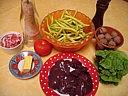 Ingrédients pour la recette : Foies de volaille en salade