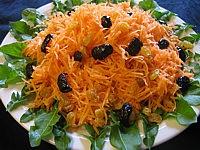 sauce vinaigrette à la crème : Assiette de carottes en salade
