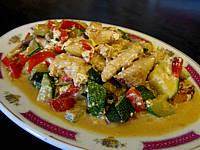 Image : Assiette de courgettes façon chinoise