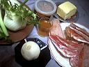 Ingrédients pour la recette : Crêpes farcies aux fenouils et rougets