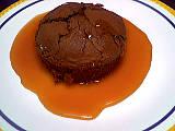 fondant au chocolat : Assiette de choco-caramel