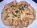 Recette Assiette de dés de poulet au gorgonzola