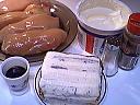 Ingrédients pour la recette : Dés de poulet au gorgonzola