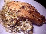 Image : Assiette de gratin de samon au mascarpone