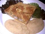 colin : Assiette de colin en omelette