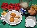 Ingrédients pour la recette : Fraises à la liqueur de sureau