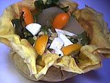 aumonières de crêpes au kumquat
