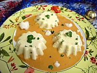 Cuisine diététique : Flans de chou-fleur et sa sauce crémée
