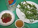 Ingrédients pour la recette : Estragon et vinaigre