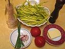 Ingrédients pour la recette : Haricots verts à la tomate