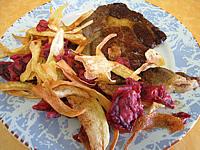 chips pommes de terre, panais et betteraves rouge