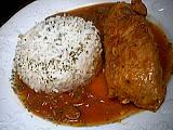 Escalope de dinde chasseur et son riz