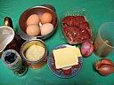 Ingrédients pour la recette : Foies de volaille aux oeufs
