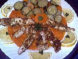 paner : Assiette de filets de sole aux légumes poêlés