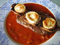 Contre-filet de boeuf : Assiette de contre-filets au fromage de chèvre
