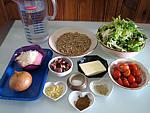 Ingrédients pour la recette : Crozets aux légumes et parmesan