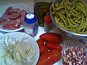 Ingrédients pour la recette : Emincé de dinde aux légumes