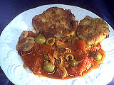 Recette Assiette de galettes de riz à la tomate