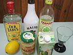 Ingrédients pour la recette : Cocktail gin et lait d'amande
