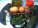 Ingrédients pour la recette : Galette aux courgettes