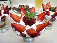 Image : recette Bananes et fraises chantilly