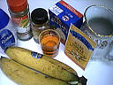 Ingrdients pour la recette : Coulis de bananes