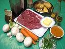 Ingrédients pour la recette : Daube de boeuf au curcuma