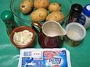 Ingrédients pour la recette : Gratin de pommes de terre à la mozzarella