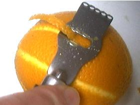 orange cannelée