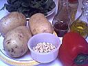 Ingrédients pour la recette : Salade aux pignons