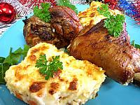 Recette Assiette de souris d'agneau et gratin parmentier aux carottes
