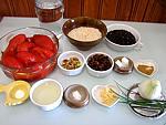 Ingrédients pour la recette : Lentilles et riz à la sauce tomate