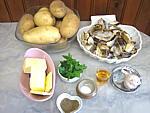 Ingrédients pour la recette : Pommes de terre sautées aux cèpes