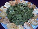Salade d'épinards tièdes aux moules et son coulis de ciboulette - 12.1