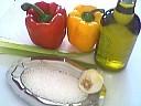 Ingrédients pour la recette : Poivrons à l'huile d'olive