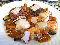 noix de saint jacques : Saint-Jacques à la confiture d'échalotes et au foie gras