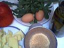 Ingrédients pour la recette : Poivrons rouges en salade