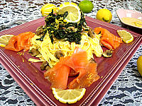 tagliatelles au citron et saumon fumé