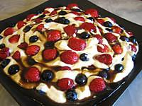 mascarpone aux fraises et aux myrtilles