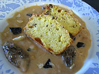 truffe : Assiette de sauce à la truffe