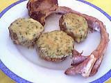 farce : Assiette de champignons farcis