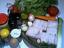 Ingrédients pour la recette : Salade cabillaud