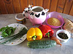 Ingrédients pour la recette : Salade de boulghour et poivrons