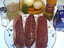 Ingrédients pour la recette : Steak de paleron à la sauce aux oignons