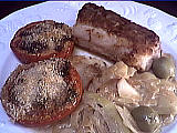 roussette : Assiette de roussette aux légumes