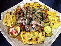 Foie de veau : Plat de polenta et foie de veau