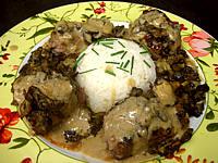 Image : Assiette de pavé d'autruche sauce madère